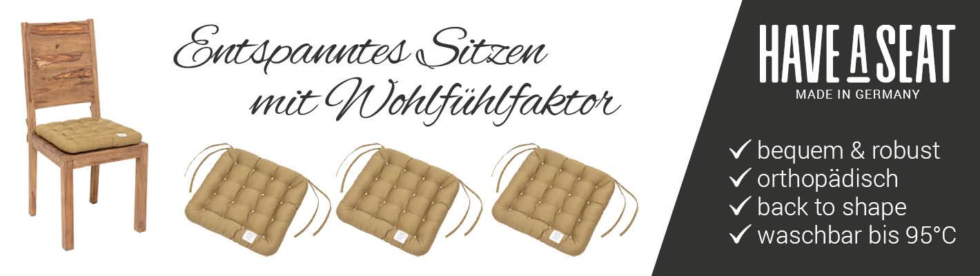 HAVE A SEAT - Premium Stuhlkissen 40x40 cm